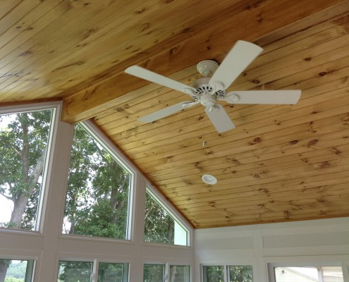 custom sunrooms from heartland with wood ceilings