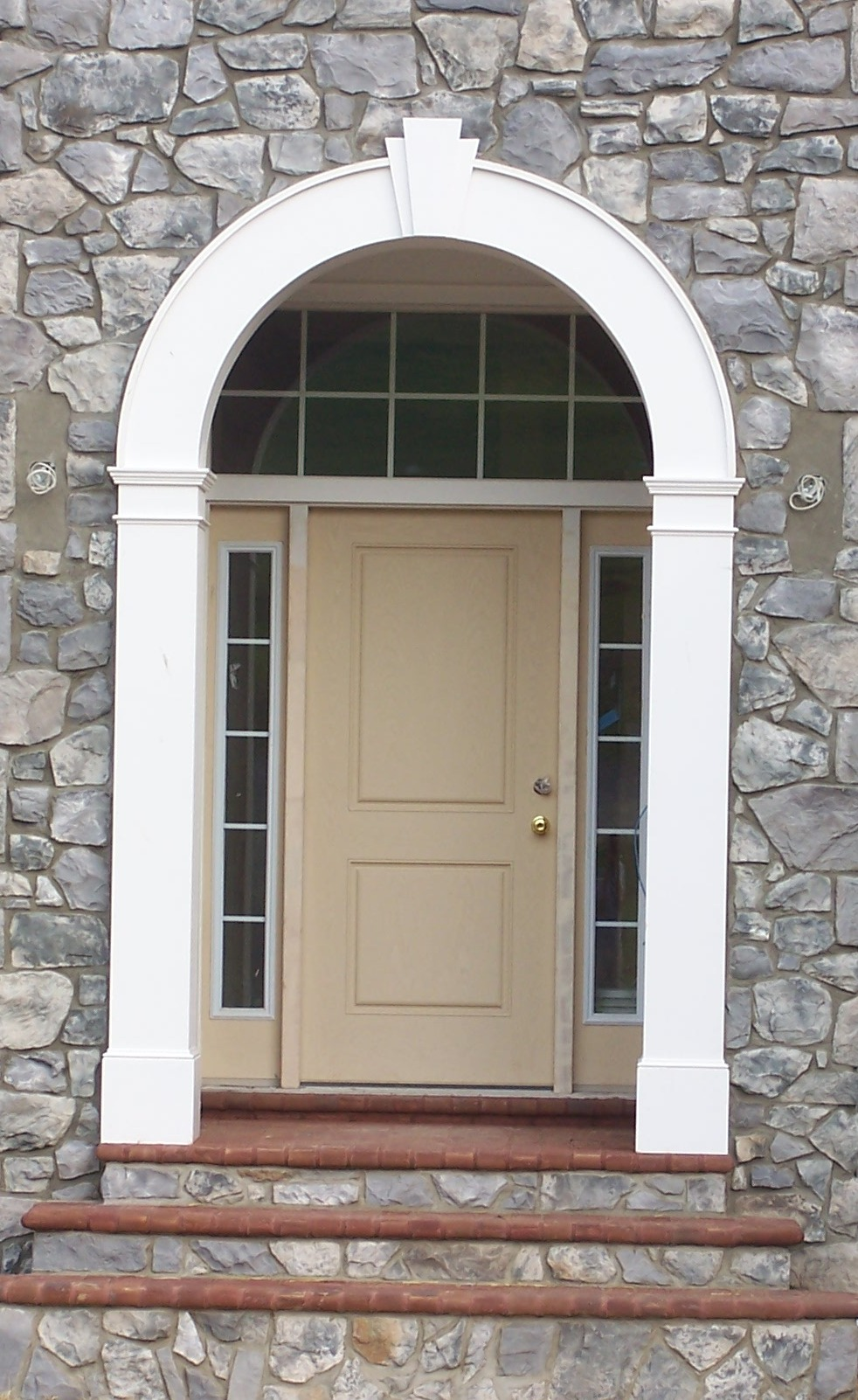 Exterior doors fiberglass vs steel heartland home - Steel vs fiberglass exterior door ...