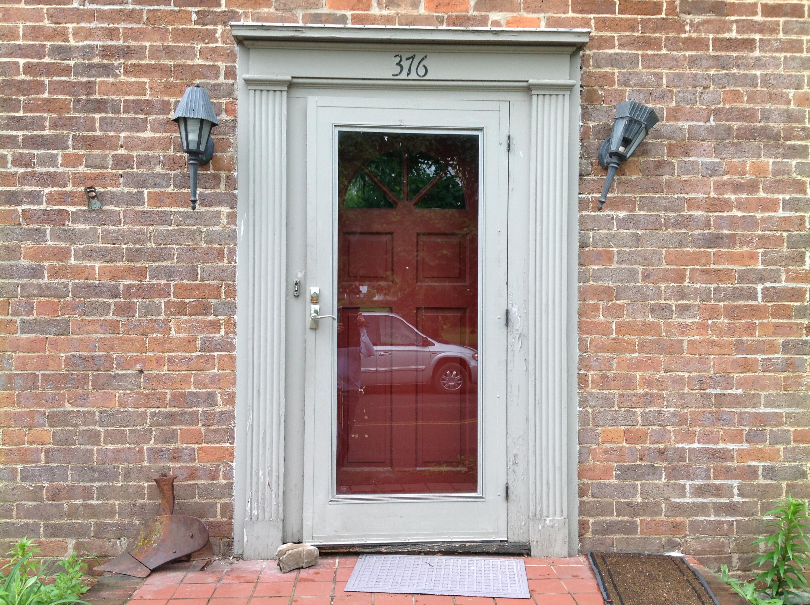 Red Fiberglass Front Door