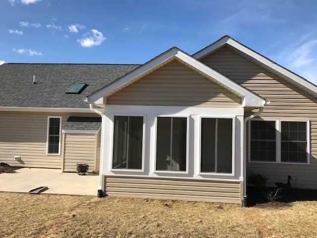 Upgrading A Porch To A Year Round Sunroom Heartland Home Improvements Llc