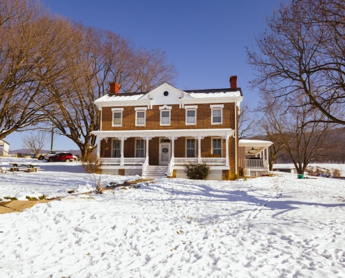 white Gingerbread Trim on Historic Home
