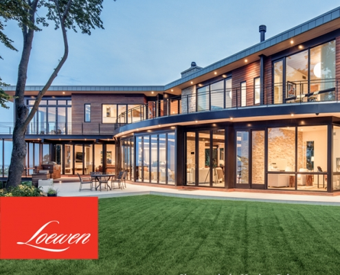 Loewen windows and doors in high-end home
